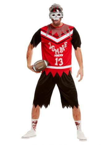Zombie Footballer Costume, Red