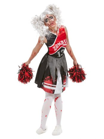 Cheerleader Zombie Costume, Red