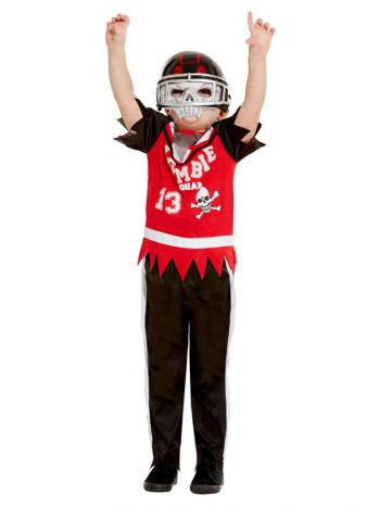 Zombie Football Player Costume, Red