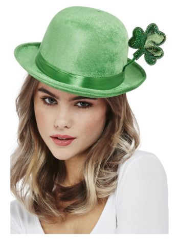 Deluxe Paddy's Day Bowler Hat, Velour