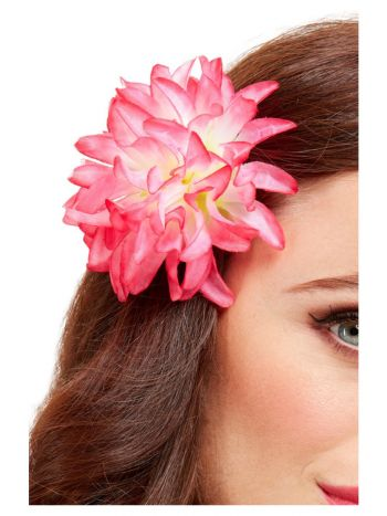 Tropical Hawaiian Flower Hair Clip, Pink
