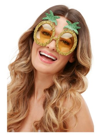 Tropical Pineapple Glitter Glasses