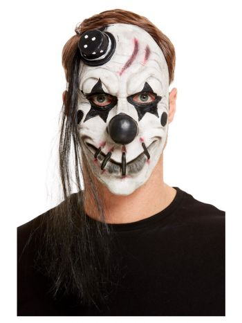Scary Clown Latex Mask, White