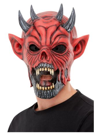Devil Latex Mask, Red