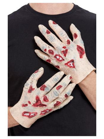 Zombie Latex Hands, Beige