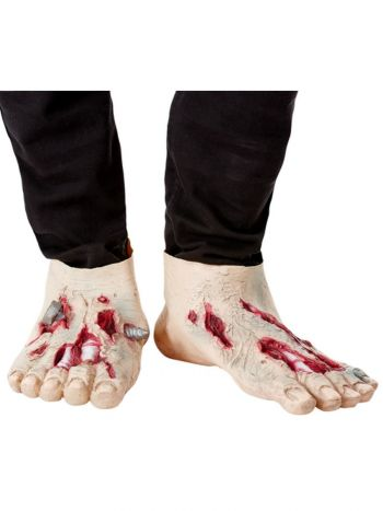 Zombie Latex Shoe Covers, Beige