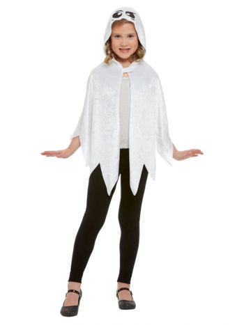 Ghost Hooded Cape, White