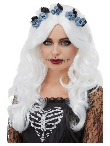 Day of the Dead Wig, White