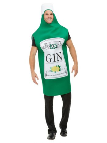 Gin Bottle Costume, Green