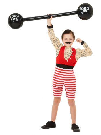 Deluxe Strong Boy Costume, Multi-Coloured