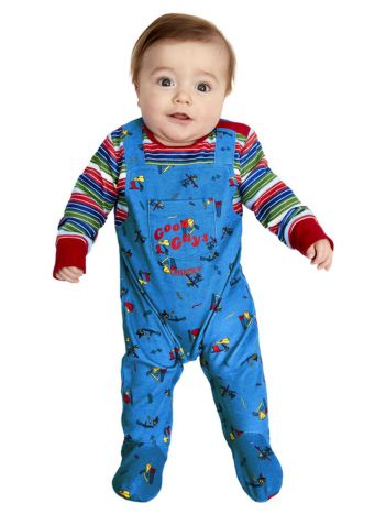 Chucky Baby Costume, Blue & Red