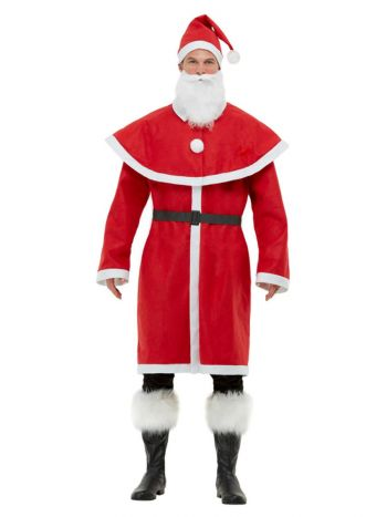 Father Christmas Santa Costume, Red