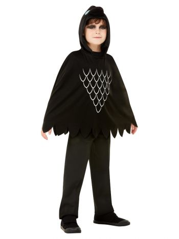 Scary Crow Poncho, Black