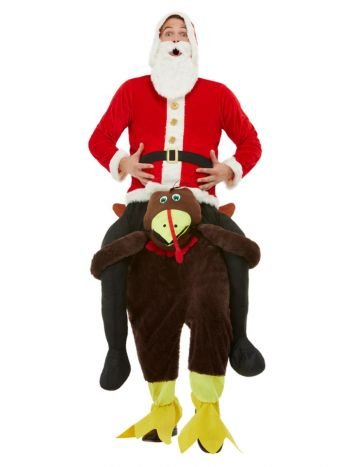 Piggyback Turkey Costume, Red