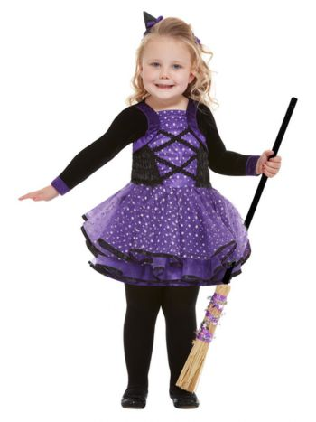 Toddler Pretty Star Witch Costume, Purple