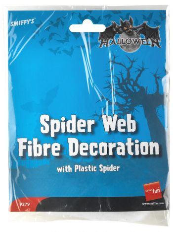 Spider Web Fibre Decoration, White