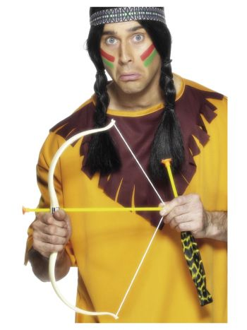 Native American Inspired Bow and Arrow Set, White