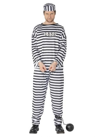 Convict Costume, Black & White