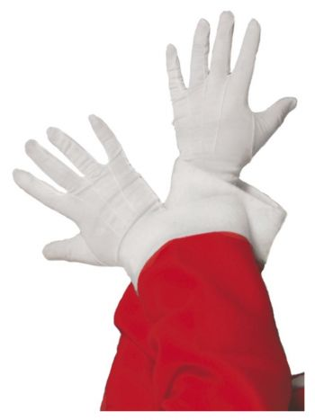 Santa Gloves, White