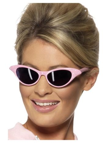 Flyaway Style Rock & Roll Sunglasses, Pink