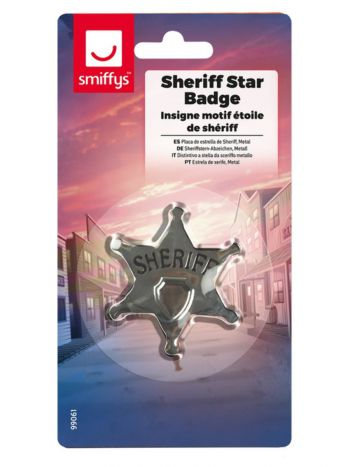 Sheriff Star Badge, Silver