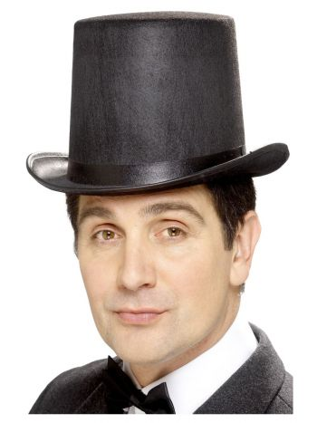 Stovepipe Topper Hat, Black