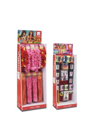 Accessories Display Unit, Neon & Luau Header