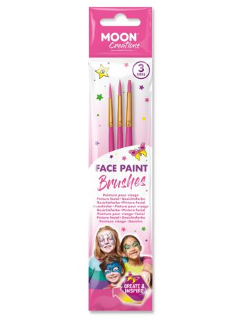 Moon Creations Face Paint Brushes, Pink