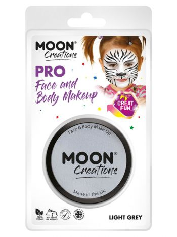 Moon Creations Pro Face Paint Cake Pot, Light Grey