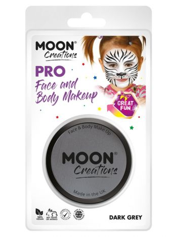 Moon Creations Pro Face Paint Cake Pot, Dark Grey