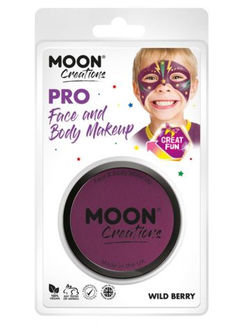Moon Creations Pro Face Paint Cake Pot, Purple