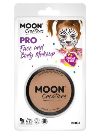 Moon Creations Pro Face Paint Cake Pot, Beige