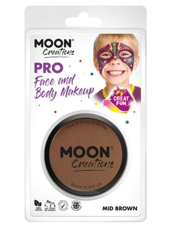 Moon Creations Pro Face Paint Cake Pot, Brown