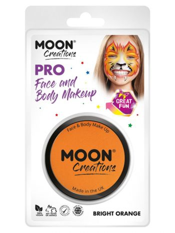 Moon Creations Pro Face Paint Cake Pot, Orange