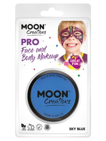 Moon Creations Pro Face Paint Cake Pot, Sky Blue