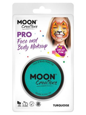 Moon Creations Pro Face Paint Cake Pot, Turquoise