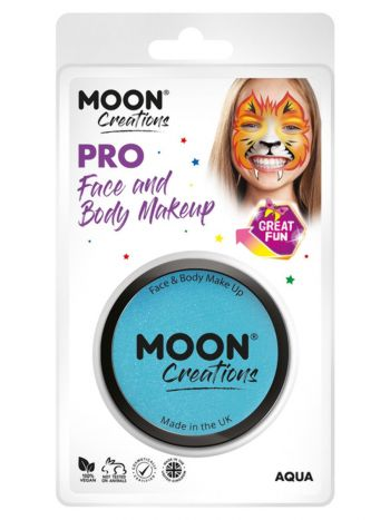 Moon Creations Pro Face Paint Cake Pot, Aqua