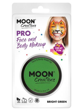Moon Creations Pro Face Paint Cake Pot, Bright Gre