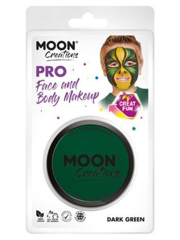 Moon Creations Pro Face Paint Cake Pot, Dark Green