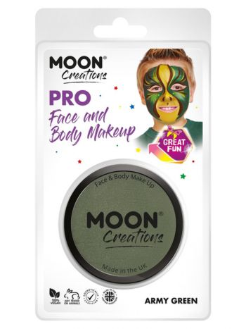 Moon Creations Pro Face Paint Cake Pot, Army Green