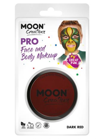 Moon Creations Pro Face Paint Cake Pot, Dark Red