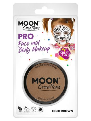 Moon Creations Pro Face Paint Cake Pot, Light Brow
