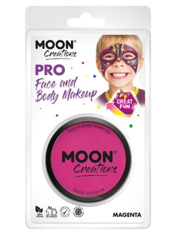 Moon Creations Pro Face Paint Cake Pot, Magenta