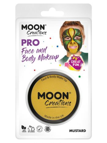 Moon Creations Pro Face Paint Cake Pot, Golden