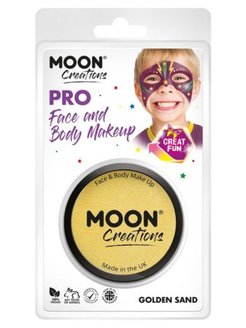 Moon Creations Pro Face Paint Cake Pot, Sand