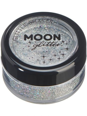 Moon Glitter Holographic Glitter Shakers, Silver