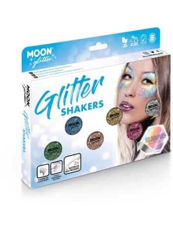 Moon Glitter Holographic Glitter Shakers, Assorted