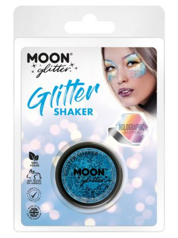 Moon Glitter Holographic Glitter Shakers, Blue
