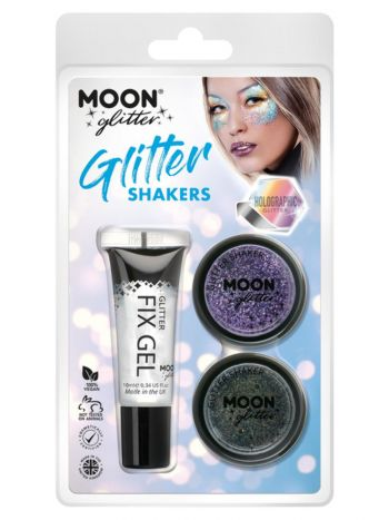 Moon Glitter Holographic Glitter Shakers,