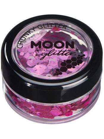 Moon Glitter Holographic Chunky Glitter, Pink